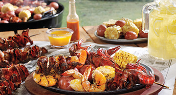 Bacon, Shrimp and Crawfish Skewers