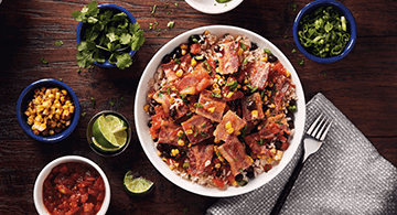 The TEX Bacon and Rice Bowl
