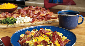 Bacon and Venison Scramble