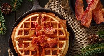 Maple-Flavored Bacon Waffles